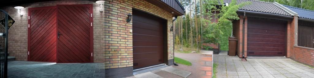 Uusi autotallin ovi päivittää autotallisi nykyaikaan. Kuttamme autotallin nosto-ovet, pariovet ja sivuovet asennettuna.