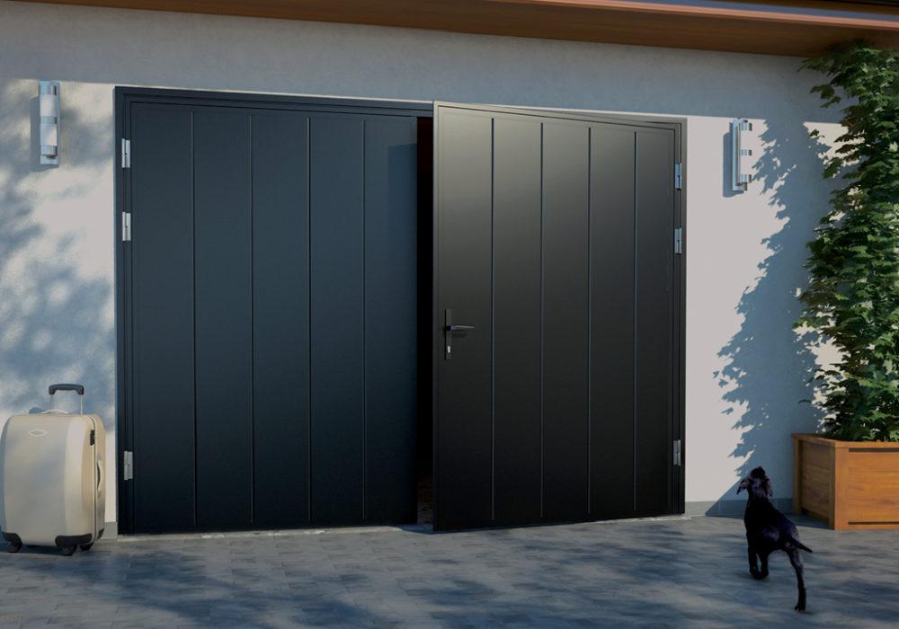 Leveä pystyura sileällä pinnalla tuo ovelle modernin ilmeen.