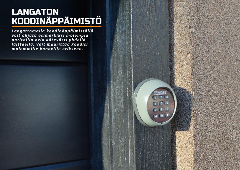 Langaton koodinäppäimistä - ovenavaaja - Autotallin oven avaaja