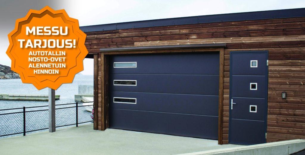 Nosto-ovi on autotallin ovien osalta teknisesti viimeistä huutoa. Se on energiatehokas, kevytkäyttöinen ja täysin automatisoitavissa.