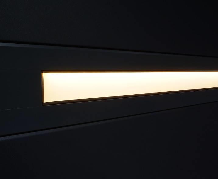 Slimlinemallin ikkunoihin on mahdollista integroida led-valaistus.