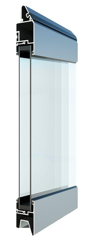 Fullview-ikkunarivi - kirkas lasi. Suuren valopinnan omaavat ikkunarivit ovat omiaan tuomaan valoa ja avaruutta liike- ja toimitiloihin.