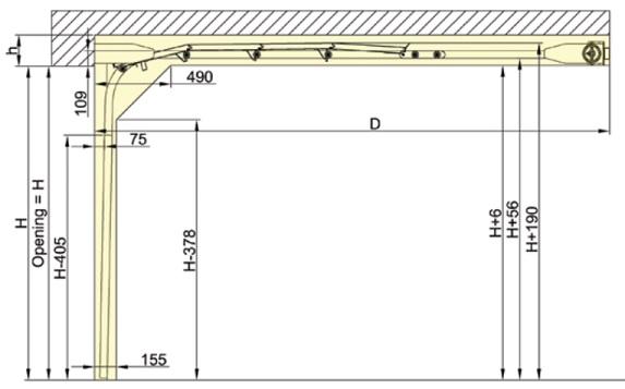 Nosto-oven takakiinnitteinen vakionosto - Jouset vaakakiskojen takaosassa listakuva