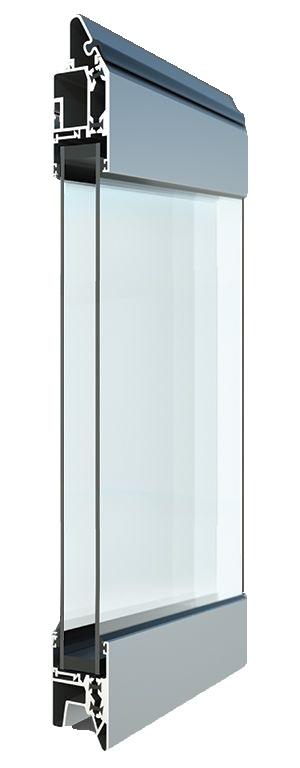 Termo-profiilin Fullview-ikkunarivi kohteisiin, joissa lasitetun oven energiatehokkuus halutaan säilyttää.