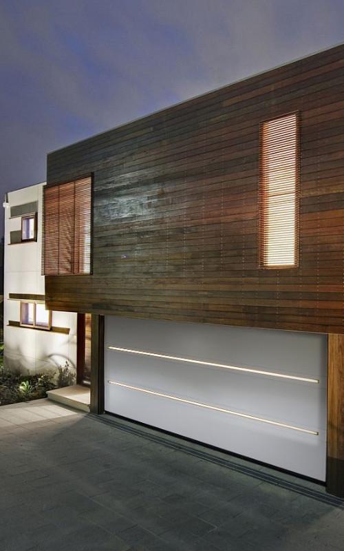 Nosto-ovi LED-valaistuksella - Slimline - Valkoinen RAL 9016