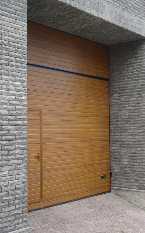 Nosto-ovi puujäljitelmäpinnalla - Vaakaura - Kultainen tammi