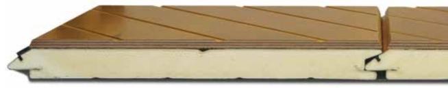 Okume-vaneri nosto-oven lamellin pinnassa