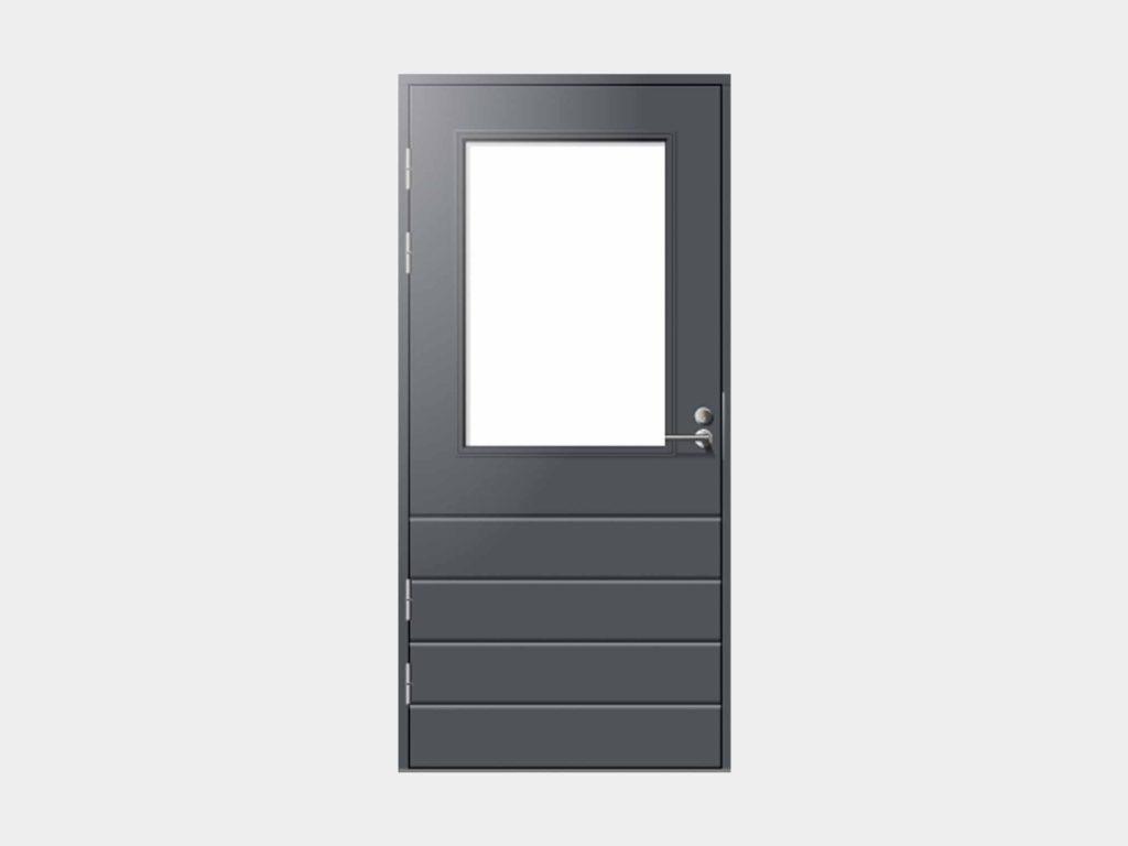 Huhti-mallimme on suunniteltu talon toiseksi sisäänkäynniksi takaterasseille ja parvekkeille. Melkein rajattomasti muunneltavissa oleva lasiaukon korkeus auttaa istuttamaan Huhti-oven seinään kuin seinään. Meiltä saat kätevästi myös Huhti-ulko- oviin sälekaihtimet valmiiksi käyttökuntoon asennettuna.