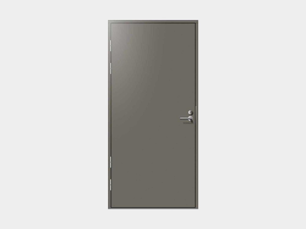 Sileässä Talaksessa ei ole mitään ylimääräistä, mutta se on halutessa varsin näyttävä ulko-ovi. Rohkealla värivalinnalla voit tehdä tämän ulko-oven avulla sisäänkäynnistäsi raikkaan ja modernin.