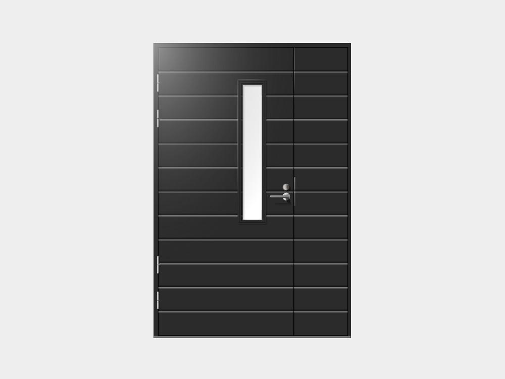 Ulko-oven rinnalle voit valita tyyliin sopivan levikkeen joko avattavana tai kiinteänä. Oveen voidaan liittää myös avattava levike, joka asennetaan oven kanssa ja lukitaan ylhäältä samaan karmiin sekä alhaalta kynnykseen. Levikkeen maksimileveys 500mm.