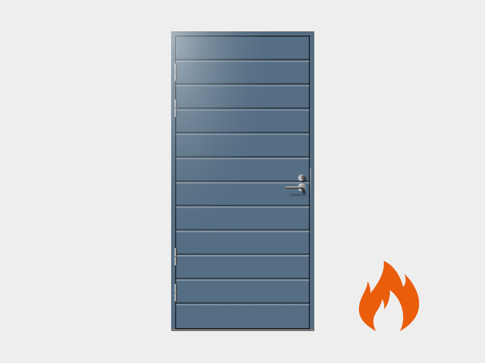 Varaston ovet saatavana E15 paloluokituksella.